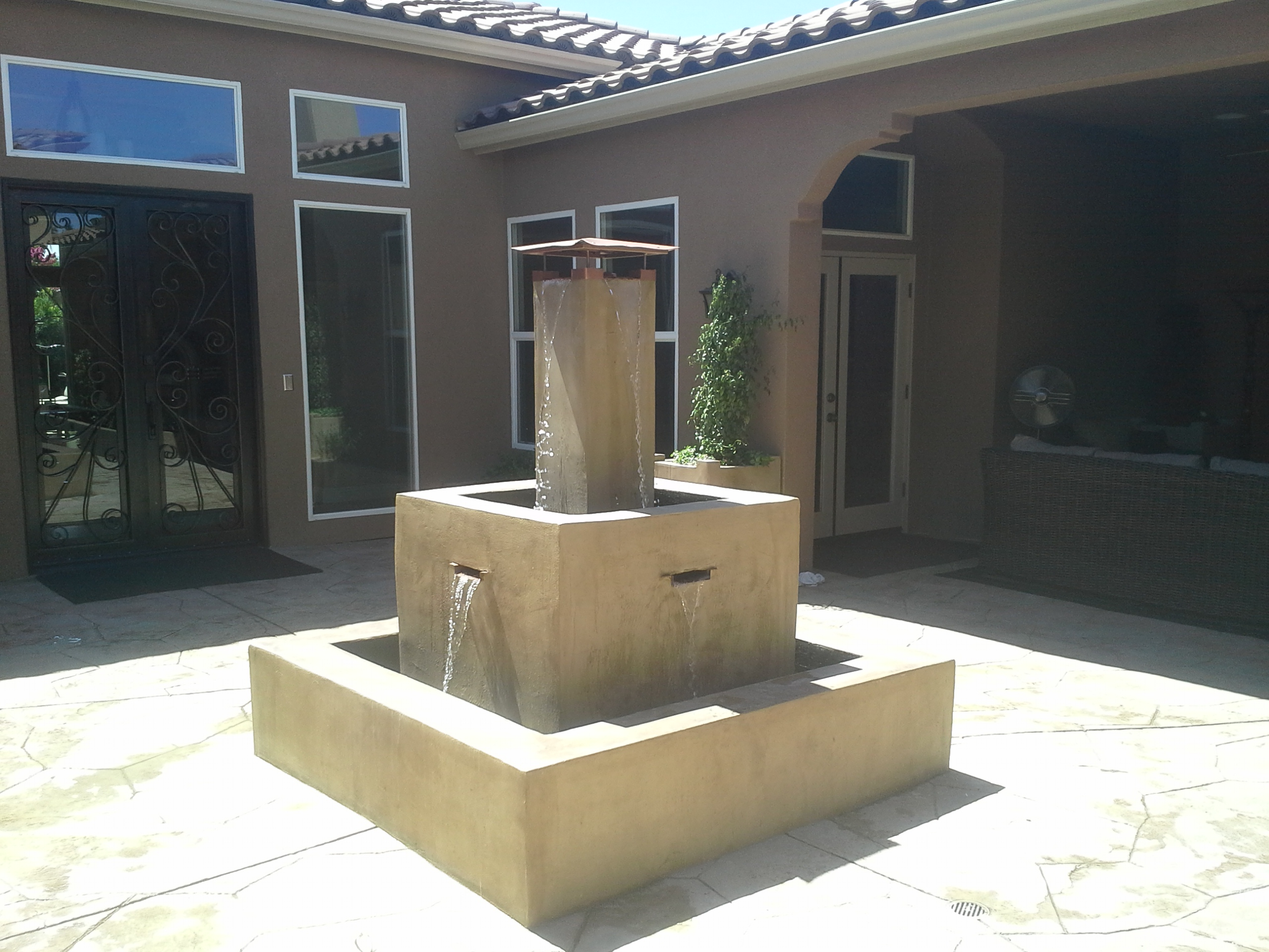 custom water services tier interior kern feature landscape features