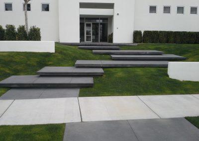 Black concrete steps with sparkle grain