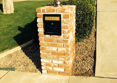 Brick mailbox with light