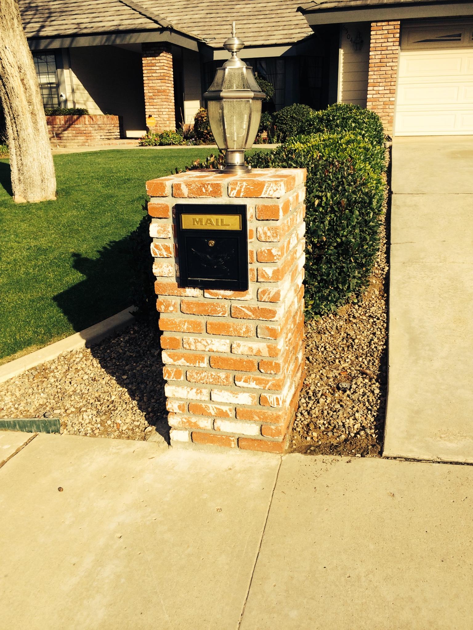 Brick Mailbox With Light