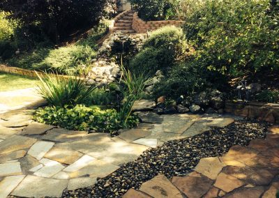 Flagstone walk and Slate patio extension 2