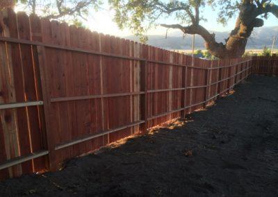 Stallion Springs Redwood Fence