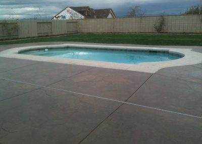 concrete patio and pool deck