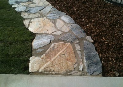 slate paver walkway